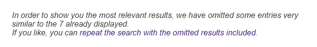 Google message at bottom of SERPs for omitted results pages